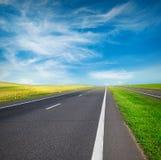 Zone et route vertes Photo libre de droits