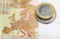 Zone euro Photo libre de droits