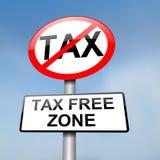 Zone exempte d'impôt. Photographie stock libre de droits
