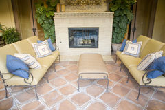 Zone extérieure à la maison de luxe de salon. Photo libre de droits