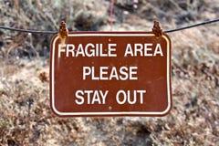 Zone fragile photo libre de droits