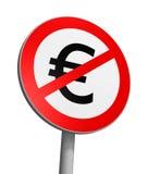 Zone franche d'euro Photographie stock libre de droits
