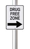 Zone franche de drogue de cette façon photographie stock libre de droits