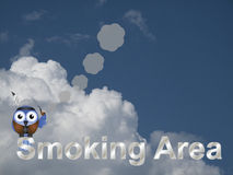 Zone fumeur Image libre de droits