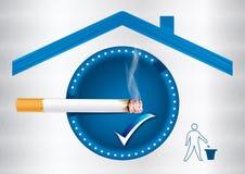 Zone fumeur indiquée - autocollant imprimable Photographie stock libre de droits