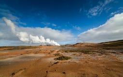 Zone géothermique Images stock