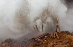 Zone géothermique Photographie stock libre de droits