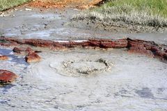 Zone géothermique Hveravellir Images libres de droits