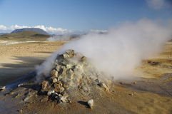 Zone Hverir, Islande de Solfatare Photographie stock