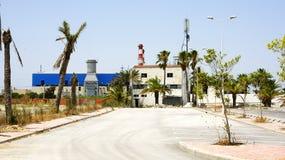 Zone industrielle dans le port de la La Goulette, Tunisie Image stock