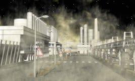 Zone industrielle surréaliste Photographie stock