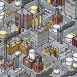 Zone industrielle urbaine Photo libre de droits