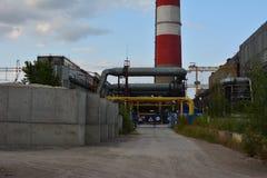 zone la plus neuve industrielle de raffinage de pétrole de matériel Image stock