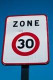 Zone 30 Stock Image