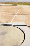 Zone mise par projectile image stock