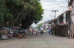 Zone piétonnière au parc Vargas dans Puerto Limon, Costa Rica Photographie stock
