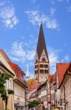 Zone piétonnière dans Ettlingen Image libre de droits