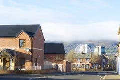 Zone résidentielle dans la partie du sud de Belfast Photographie stock libre de droits