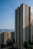 Zone résidentielle du nord de pont de Chongqing Chaotianmen Yangtze River Bridge Images libres de droits