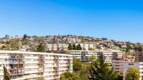 Zone résidentielle en Vina del Mar, Chili Photographie stock libre de droits