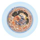 Zone résidentielle sphérique de panorama à Barcelone Photos libres de droits