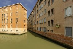 Zone r?sidentielle ? Venise images stock