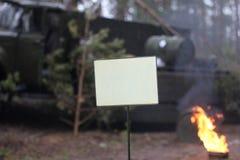 Zone radioactive et plat pour toute inscription images libres de droits