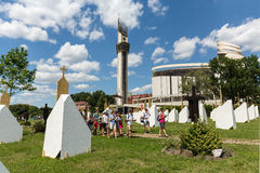 Zone of Reconciliation at the Sanctuary of Divine Mercy in Lagiewniki Stock Photos