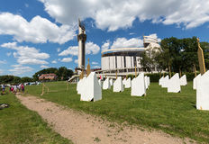 Zone of Reconciliation at the Sanctuary of Divine Mercy in Lagiewniki. Stock Photos