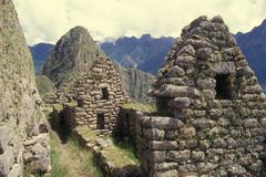 Zone residentielle de Machu Picchu, Pérou. images libres de droits
