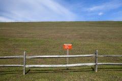 Zone restreinte photographie stock