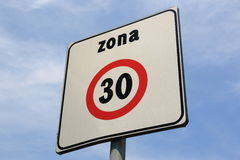 Zone 30 Royalty Free Stock Photos