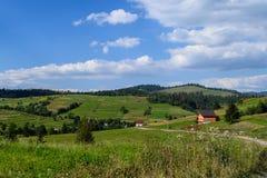 Zone rurale dans carpathien photographie stock libre de droits