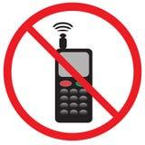 Zone sans téléphone Images libres de droits