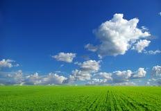 Zone sur le ciel bleu photographie stock