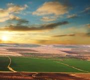 Zone sur le coucher du soleil photos libres de droits
