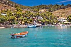 Zone touristique sur Poros Photographie stock