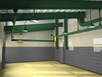 zoner för metall för arkitekturtvärslå industriella Royaltyfri Bild
