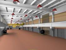 zoner för metall för arkitekturtvärslå industriella Arkivbild