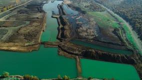Zones agricoles, irrigation, lac, étang et zones de développement durable photo stock