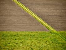 Zones cultivées - agriculture image libre de droits