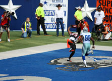 zones d'en-but de cowboys de loquet de bengals Photos stock