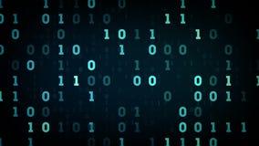 Zones d'information binaires bleues illustration libre de droits