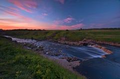 Zones de courant de fleuve de Tosna Photographie stock libre de droits