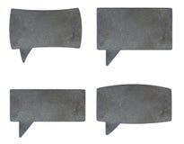 Zones de dialogue métalliques Photographie stock