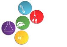 Zones de la Science Image libre de droits