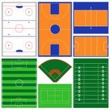 Zones de sport Photos stock