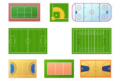 Zones de sport illustration de vecteur