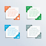 Zones de texte colorées Photos libres de droits