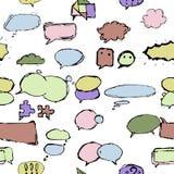 Zones et ballons de dialogue dans diff?rentes formes illustration de vecteur